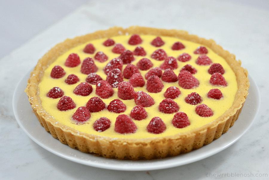 Simple Raspberry Cream Tart