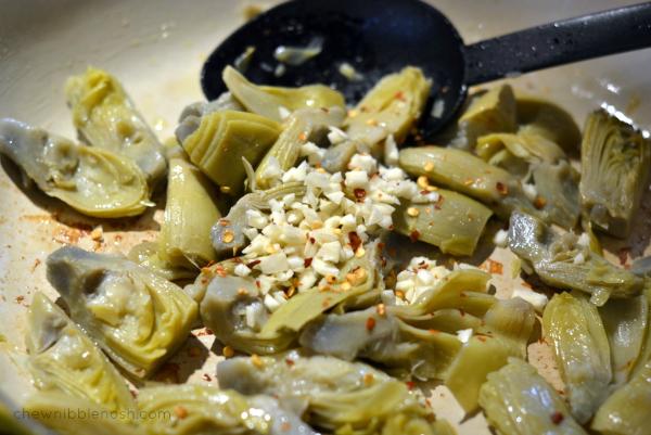 Skillet Chicken Parmesan with Artichokes - Chew Nibble Nosh 2