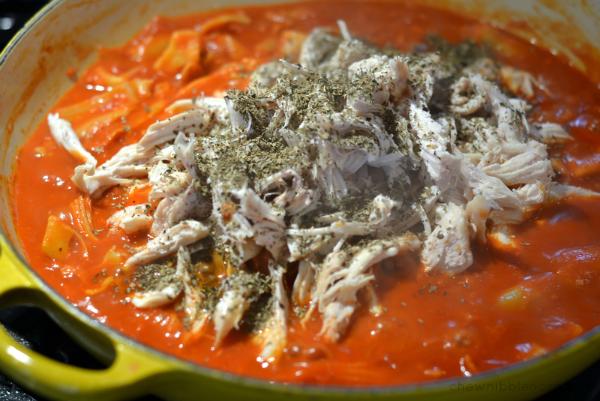 Skillet Chicken Parmesan with Artichokes - Chew Nibble Nosh 5