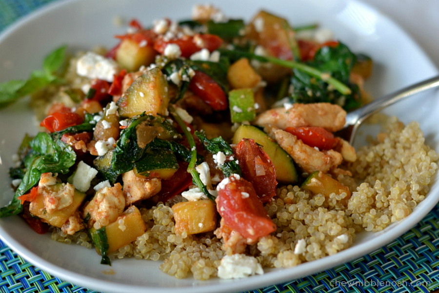 Chicken with Quinoa and Vegetables -Chew Nibble Nosh