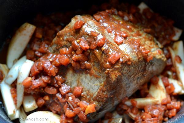 Slow Cooker Cowboy Pot Roast - Chew Nibble Nosh 2