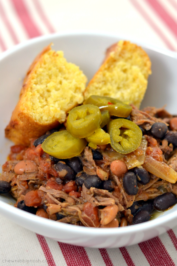 Slow Cooker Cowboy Pot Roast - Chew Nibble Nosh