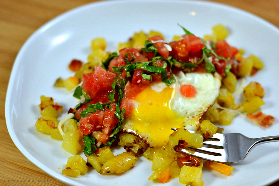 Italian Bruschetta Potato Hash AND a Hamilton Beach Pro Giveaway!